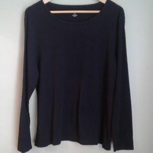 Liz Claiborne black long sleeve top size xl